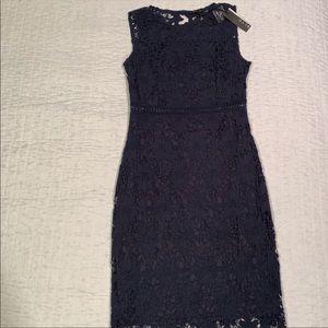 Blue Knee Length Lace Dress *REPOSH